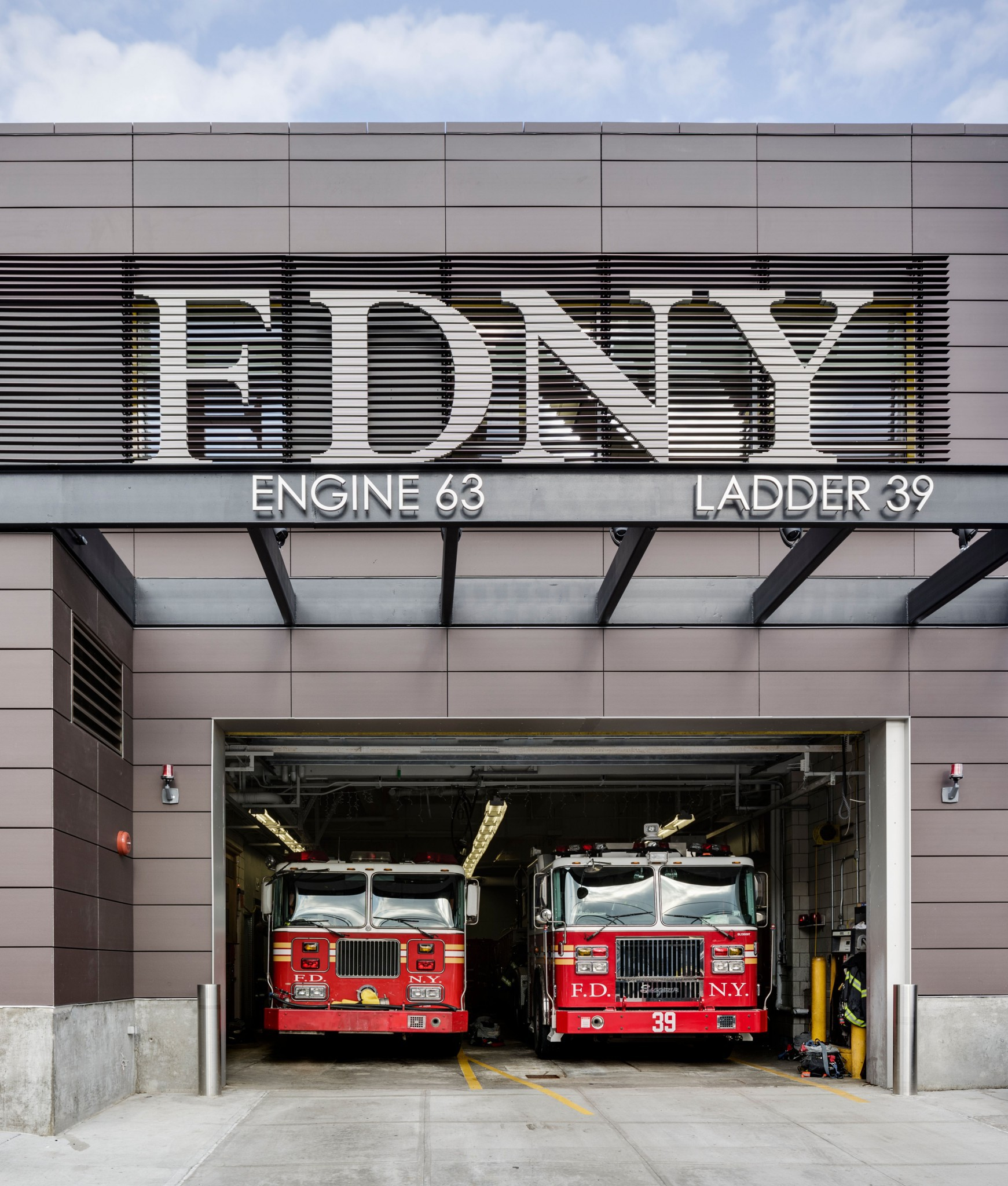 Engine Company 63 in the Bronx - designed by architect Theodore Galante